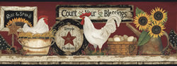 -$$ Count Your Blessings Wall Border - The Weathered Loft LLC