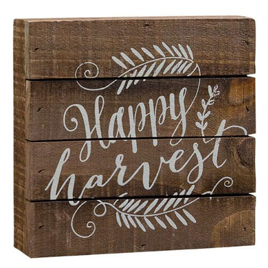 Happy Harvest Slat Sign