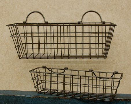 2/Set, Rusty Wire Wall Baskets