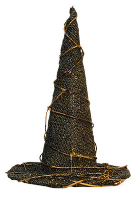 Sparkly Burlap Witch Hat