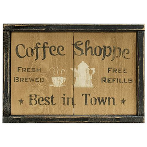 Coffee Shoppe Sign - The Weathered Loft LLC