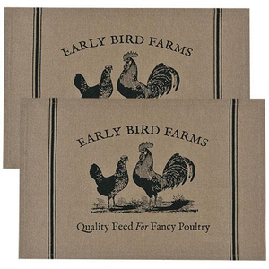Fancy Poultry Placemats, 4/Set - The Weathered Loft LLC
