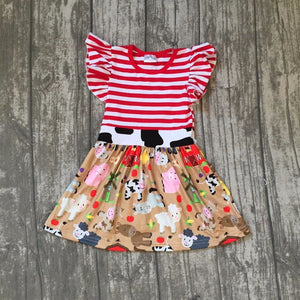 Farm Red Stripe Dress - The Weathered Loft LLC