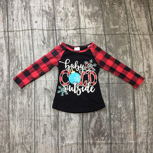 Girls Long Sleeve Baby it's Cold Outside top