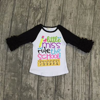 little miss rule the school 3/4 sleeve