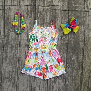 Elephant Romper outfit with accessories - The Weathered Loft LLC
