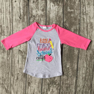 little miss home school cutie top