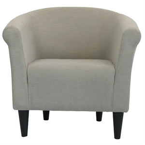 Taupe Modern Classic Upholstered Accent Arm Chair Club Chair