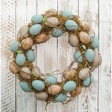 Vintage Egg Wreath