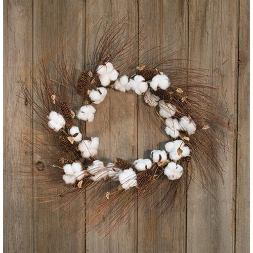 Cotton and Pinecone Wreath - 30