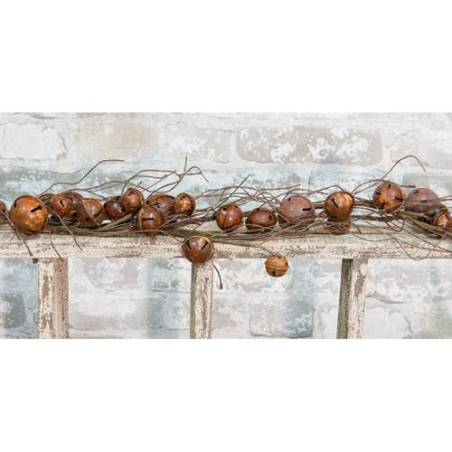 Rusty Bell & Twig Garland, 4ft