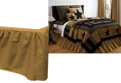 Delaware Star Queen Bed Skirt - The Weathered Loft LLC