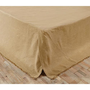 Burlap King Bed Skirt - The Weathered Loft LLC