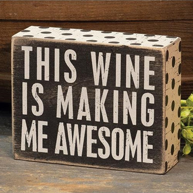 Wine Awesome Box Sign