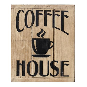 -$$ Coffee House 3-Panel Sign - The Weathered Loft LLC