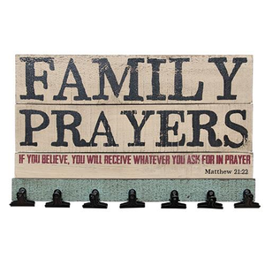Family Prayers Board        - The Weathered Loft LLC