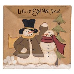 Life is Snow Good Plate