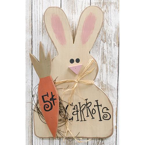 Wooden Bunny with Carrot