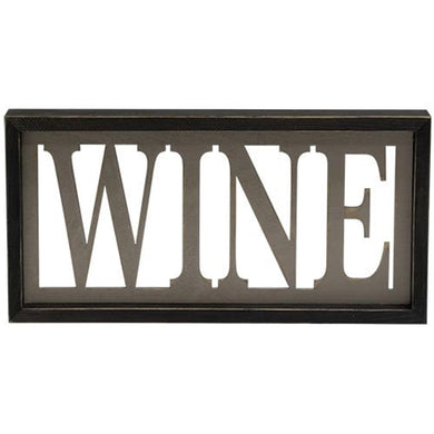 ~ * Wine Framed Sign
