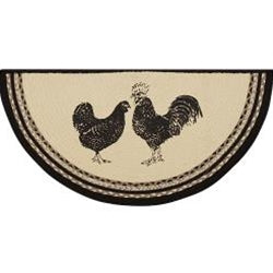 Sawyer Mill Charcoal Poultry Jute Half Rug