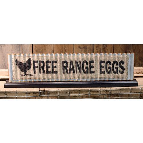 Free Range Eggs Metal Standing Sign - The Weathered Loft LLC