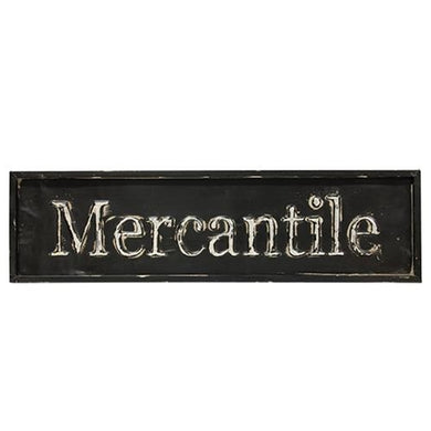 -$$ Large Distressed Black Mercantile Sign, 30