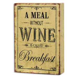 Wine Breakfast Sign