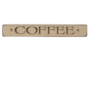 "-$$ Coffee Engraved Block, 12"" - The Weathered Loft LLC"
