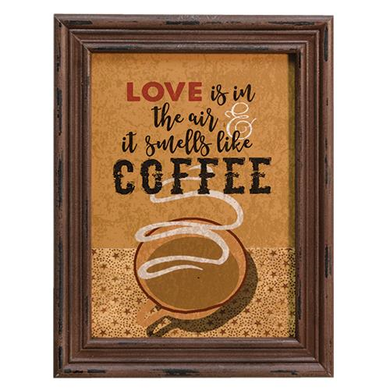 Love Smells Like Coffee Sign