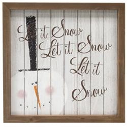 Let It Snow Shiplap Framed Sign