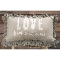 Love Begins At Home Pillow