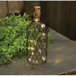 LED Bottle Lamp, 8.75""