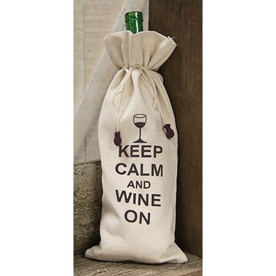 Keep Calm Wine Bottle Cover