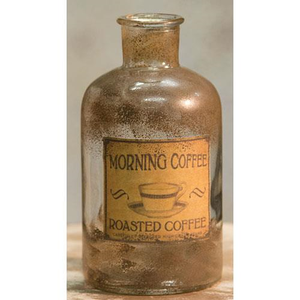 "Morning Coffee Antique Bottle, 6.5"" H"