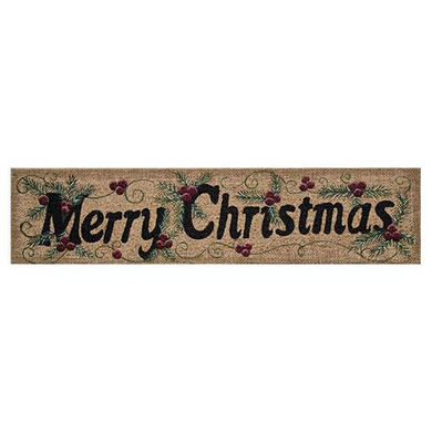 Merry Christmas Burlap Sign