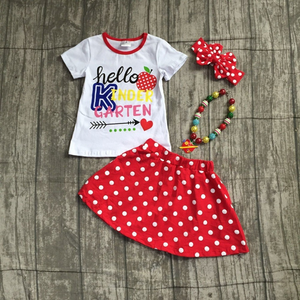 Hello Kindergarten skirt outfit with accessories