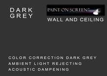 Wall and Ceiling Ambient Light Rejecting Acoustic Dampening DARK GREY