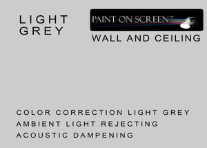 Wall and Ceiling Ambient Light Rejecting Acoustic Dampening LIGHT GREY