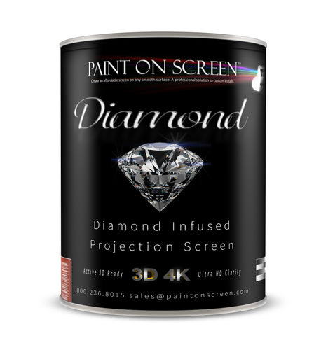 Diamond Infused Projection Screen