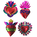 Large Mexican Milagros Charms - Set of 4 - Multicolor