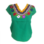 Green Mexican Blouse