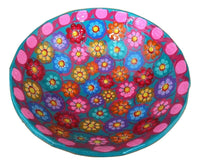 Colorful Decorative Mexican Style Bowl - Hand-made and Hand Painted in Mexico