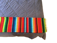 Yoga Blankets - Serape Saltillo Blanket XXL - Bright Color Authentic Mexican Mat - Sarape Table Runners - Bed Cover - Yoga Mat - Picnic Rug