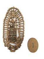 Our Lady of Guadalupe Unpainted Wood Craft - Virgen de Guadalupe