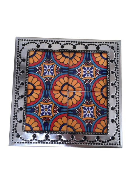 Decorative Storage Box with Lid - With Authentic Mexican Tiles -
