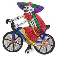 Mexican Milagros Charm Catrina on a Bike - Large
