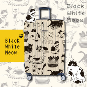 "NaSaDen Meow Series Limited Edition [Black White Meow] 26"" Cat Zipper Luggage  [1 year warranty]"
