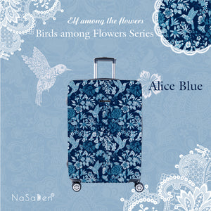 "NaSaDen Birds among Flowers Series Limited Edition [Alice Blue] 26"" Zipper Luggage  [1 year warranty]"