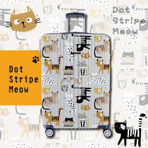 "NaSaDen Meow Series Limited Edition [Dot Stripe Meow] 26"" Cat Zipper Luggage  [1 year warranty]"