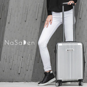 "NaSaDen New Schloss Sanssouci Series [Silver] 22"" Zipper Carry On  [1 year warranty] - NaSaDen"